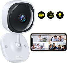 Lensoul Wireless Security Camera System 1080p, Baby Monitor Home WiFi Surveillance Camera Indoor IP Camera for Pet with Night Vision, 2-Way Audio, Motion Detection, HD Video | Cloud Service Available