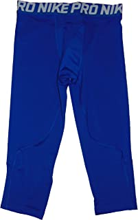 Nike Pro Boy's Training Tights 3/4 Length Polyester Blue