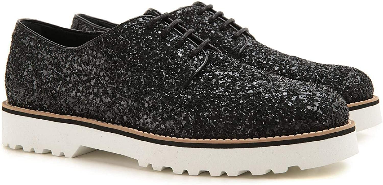Hogan Women's HXW2590S112L04B999 Black Leather Lace-up shoes