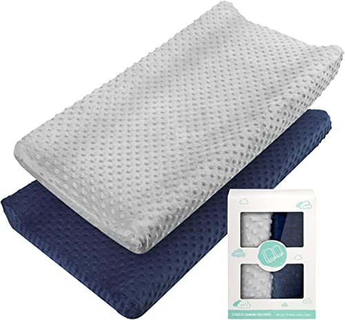 Changing Pad Cover - Babebay Ultra Soft Minky Dots Plush Changing Table Covers Breathable Changing Table Sheets Wipea...