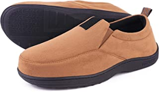 Men's Cozy Memory Foam Slippers Micro Suede Comfy Loafer House Shoes