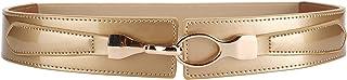 Ayli Women's Waist Belt Shiny Patent Leather Elastic Stretch Cinch Belt