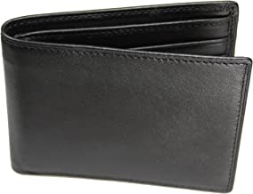 Castello Italian Soft Leather Slim Fold Wallet with RFID Security