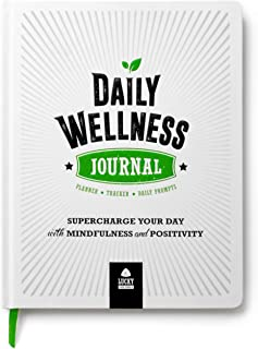 DAILY WELLNESS JOURNAL: Supercharge Your Day With Mindfulness and Positivity - A guided Journal/Diary/Day Planner/Tracker,...