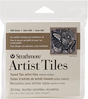 Strathmore 105-977 400 Series Toned Tan Artist Tiles, 30 Sheets