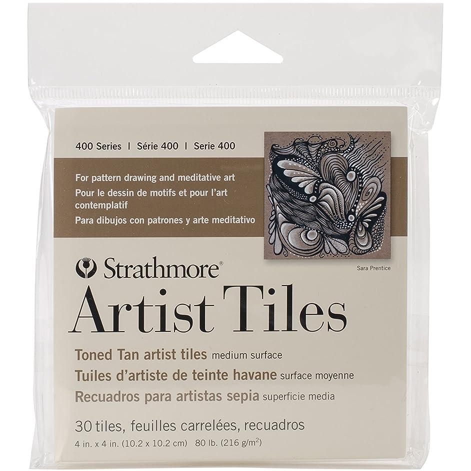 Strathmore 105-977 400 Series Toned Tan Artist Tiles, 30 Sheets