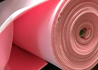 """Pink Foam Upholstery Sew 1/4"""" Craft Padding W/Scrim Backing 60"""" Automotive Yard"""