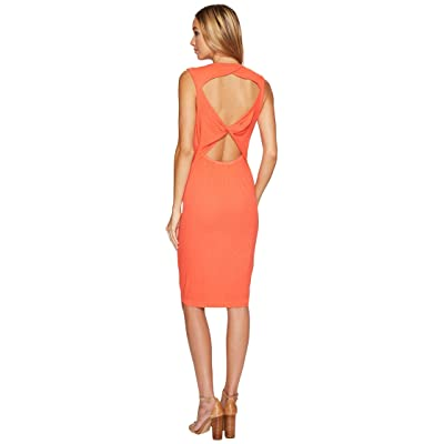 Splendid Knot Back Tank Dress (Bright Coral) Women