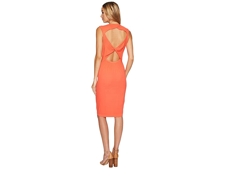 Splendid Knot Back Tank Dress (Bright Coral) Women