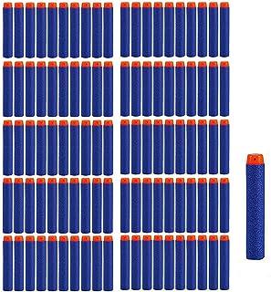 Dart Refill, 100 Universele Pijlen/Darts/Kogels geschikt voor NERF N-Strike Elite speelgoedblasters, zachte ronde hoofd sc...