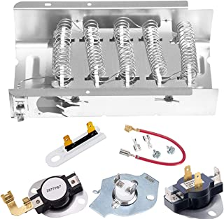 Dryer Heating Element 279838, Dryer Heating Element Parts 3392519 Thermal Fuse 3977767 Thermostat 279816 Dryer Thermostat Kit Compatible with Whirlpool Kenmore Roper, Maytag, Estate, Inglis and More