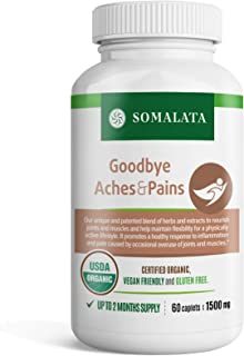 Goodbye Aches & Pains - Natural Anti-inflammatory for Joints and Muscles - Herbal Pain Relief - Organic - Vegan