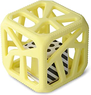 Malarkey Kids Chew Cube - from The Makers of The Munch Mitt - Easy-Grip TEETHER Rattle - Yellow