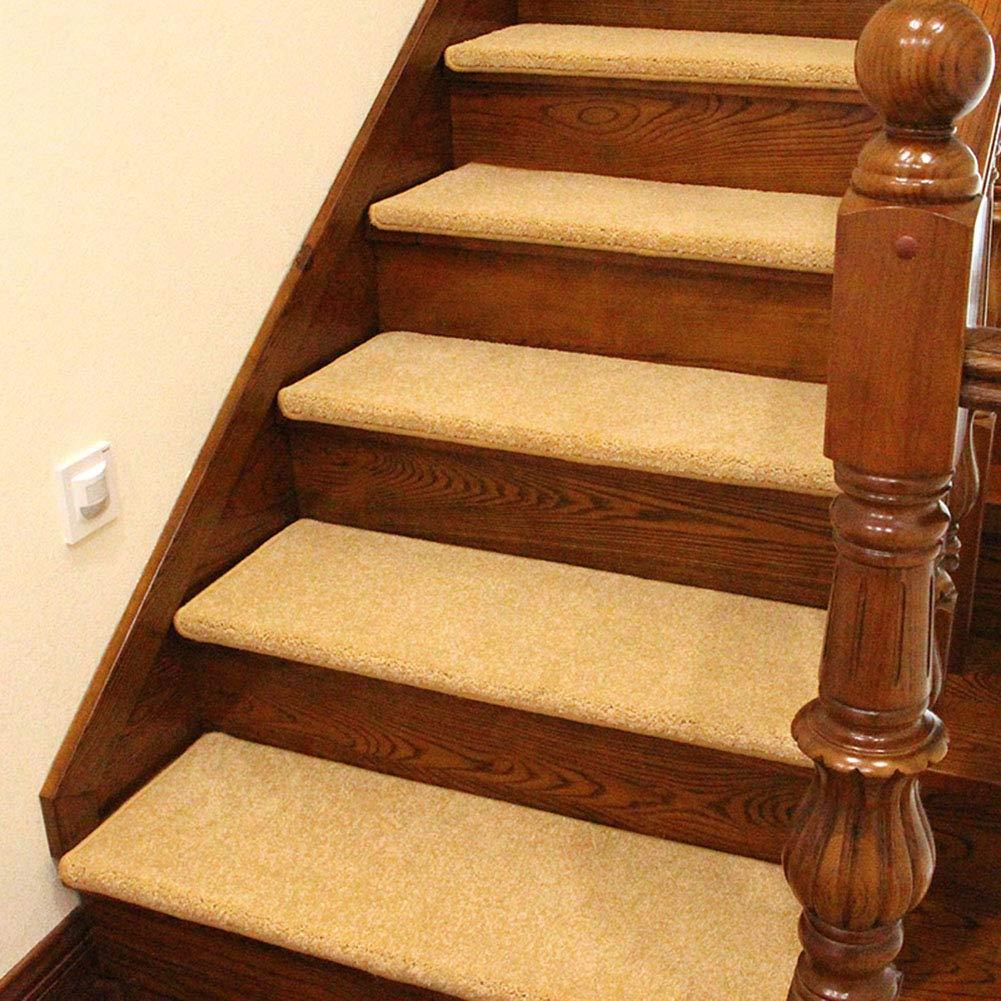 Stairway Carpet Alfombra de Escalera para Uso en Interiores y Exteriores, Alfombra de escalones de Madera, Alfombrilla autocebante de Silicona: Amazon.es: Hogar