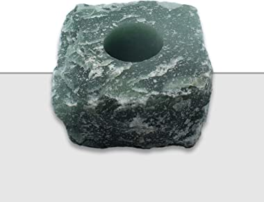 Nature's Decorations Green Quartz Votive Tealight Holder - Green Candle Holder for Side Tables, Countertops, Living Room, &am