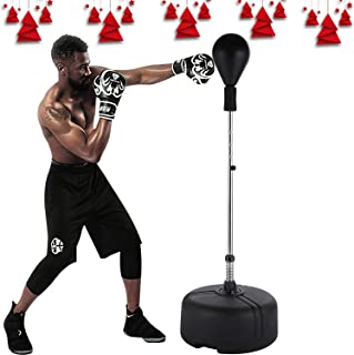 langomke Reflex Boxing Bag Freestanding Punching Ball Adjustable Cobra Boxing Bag Stand Speed Punching Bag for Adults & Teenagers & Kids