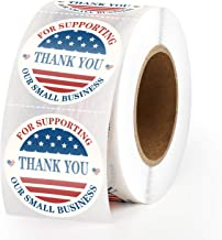 Methdic Thank You Stickers USA Flag Seal Labels 500 per Rolls (B)