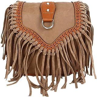 VogueZone009 Women's Shopping Pu Bags Fringe Casual Crossbody Bags,CCABO213443