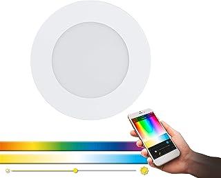 EGLO Connect Luminaire Encastrable Led Fueva-C, Lampe Encastrable Smart Home, Matériau : Métal Moulé, Plastique, Couleur :...