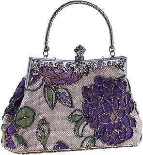 AXEDENRRT Pearl Wallet Shoulder Messenger Dress Cheongsam Ladies Woman Classy Vintage Wristlet Evening Bag