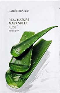 Nature Republic Real Nature Mask Sheet ALOE 10pc SET Daily Mask Korea