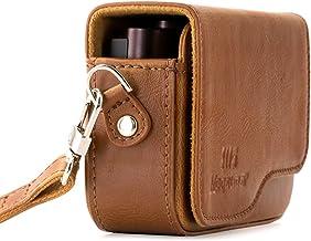 MegaGear Leder Kameratasche mit Trageriemen kompatibel mit Canon PowerShot G9 X Mark II, G9 X