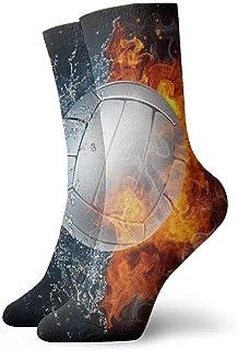Be-ryl, Voleibol Caliente Entre Fuego y Agua Novedad Calcetines Deportivos Calcetines Deportivos Medias 30 cm
