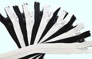 ZipperStop Wholesale Authorized Distributor YKK? 18 Zipper YKK #3 Skirt & Dress ~ 6 Black and 6 White (12 Zippers / Pack)