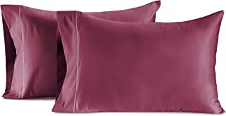 Luxury 800 Thread Count 100% Egyptian Cotton Pillow Cases Burgundy Standard Pillowcase Set of 2 - Long-Staple Combed Pure Natural Cotton Pillows for Sleeping, Soft Sateen Weave Bed Pillow Covers