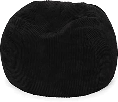 Christopher Knight Home Samantha 3 Foot Beanbag, Black