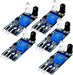 AZDelivery 5 x IR infrarrojos Módulo para kollissions y obstáculos Detección Sensor de distancia para Arduino y Raspberry Pi con eBook incluido