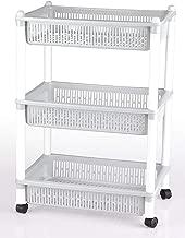 Dewberries® 3 Layer Space Saving Organizer Rack Shelf with Wheels for Kitchen Bathroom