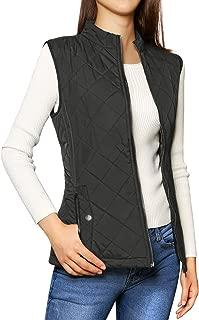 Women's Stand Collar Lightweight Gilet Quilted Zip Vest
