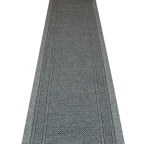 MADE TO MEASURE CARPET RUNNER - Aztec Grey - Long Hall & Stair Carpet Runner