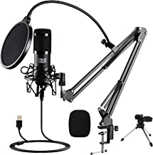 FOUR UNCLES Studio Condenser, Podcast Microphone USB Microphone Kit Cardioid Studio Mic with Adjustable Scissor Arm Stand ...