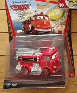 Disney Pixar Cars 2 Red the Fire Engine #3 Diecast VHTF New Oversize Deluxe