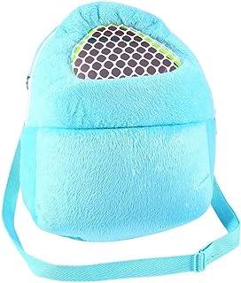 Bolsas de transporte para mascotas Hamster Rata Conejo erizo Saco de dormir Transpirable portátil de salida de viajes Bolsos Mochila con correa de hombro ( Color : Blue )
