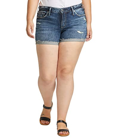 Silver Jeans Co. Plus Size Suki Mid-Rise Power Stretch Shorts W53960SGX351