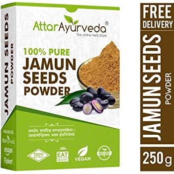 Attar Ayurveda Jamun Seed Powder for Diabetes - 250 g