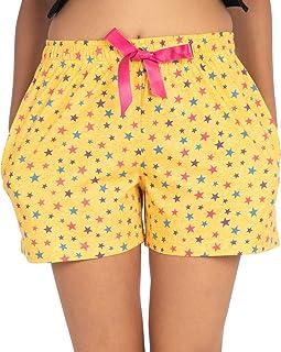 NITE FLITE Women Star Print Cotton Shorts