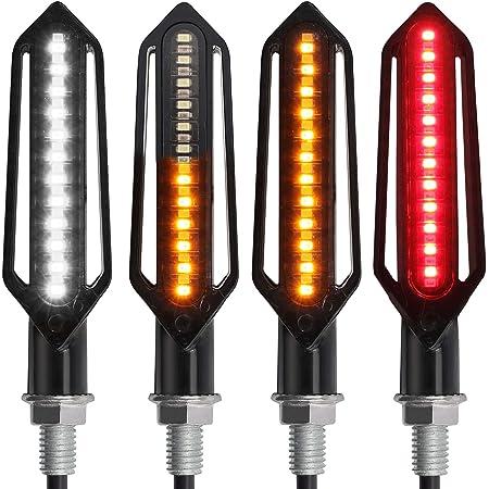 49FA Durable Flowing 48LED Motorbike Bulb Indicator Light Strip Lights
