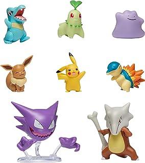 "Pokemon Battle Figure Multi 8 Pack, Featuring 2"" Cyndaquil, 2"" Chikorita, 2"" Totodile, 2"" Pikachu, 2"" Eevee, 2"" Ditto, 3"" Haunter, 3"" Marowak - Pokemon Battle Pack Toys, Gotta Catch 'Em All"
