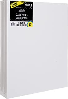 Darice Studio 71, 5 Piece, 16 by 20 inch, Stretched Canvas Value Pack, Pack of 5, White