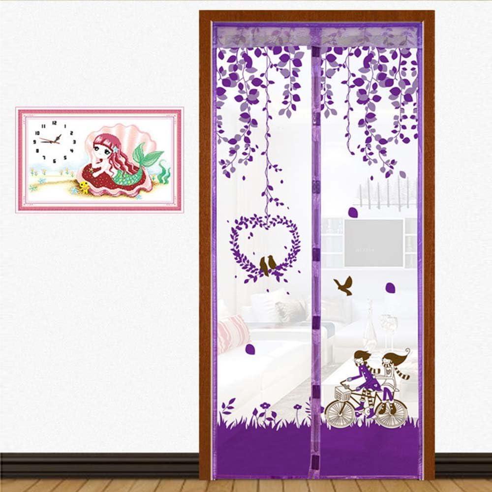 Mosquitera de red magnética multicolor Casa de verano de gama alta cortina magnética de cierre automático magnética cocina mosquitera N3 W 100 x H 210 cm