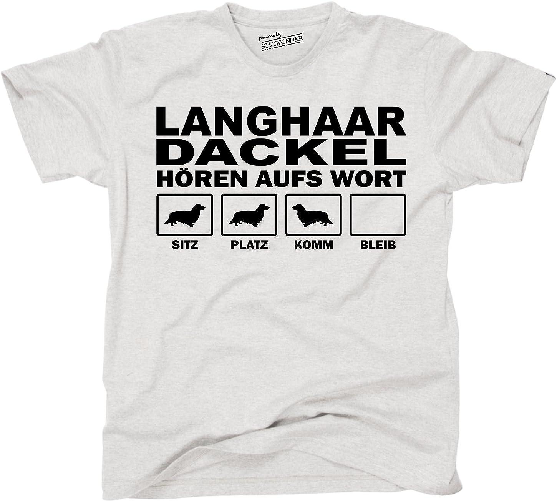 WOMAN T-Shirt LANGHAAR DACKEL HÖREN AUFS WORT by Siviwonder