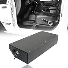 Hooke Road JK Wrangler Locking Under Seat Storage Box for Jeep JK Wrangler 07-10 2-Door /& 07-18 4-Door
