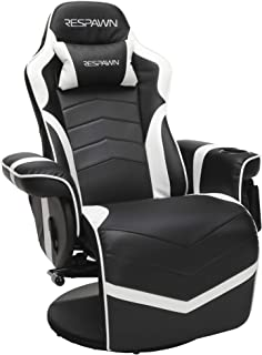 RESPAWN-900 Racing Style Gaming Recliner, Reclining Gaming Chair, in White (RSP-900-WHT)