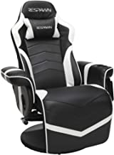 RESPAWN-900 Racing Style Gaming Recliner, Reclining Gaming Chair, in White