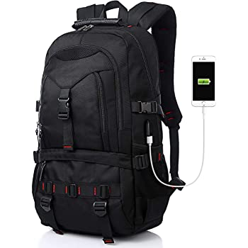 Tocode Laptop Backpack 17-Inch Bag with USB Charging Port & Headphone Port