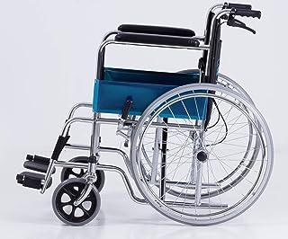 Skiiddii Portable Folding Wheel Chair Wheelchair Lightweight Mobility Aid